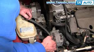 how to install replace serpentine belt oldsmobile alero 99 04 2 4l