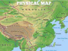 China Physical Map by China By Nathan Reed