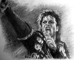 pencil sketch of singer michael jackson desipainters com