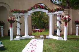 wedding arches for rent rent a white colonnade arch for your wedding at all seasons rent all