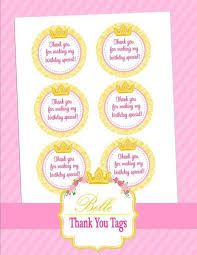 thank you tags party princess party princess thank you tags crown party