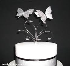 butterfly cake toppers silver butterfly wedding cake topper decoration butterfly