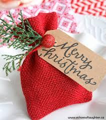 christmas table favors to make gift card bag or christmas table favor burlap bags favors and