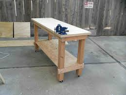 rolling work table plans the images collection of workbench ideas plansrhplansdsgncom shop