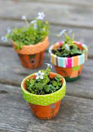 make mini fairy garden flower pots make and takes