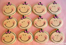 baby shower cookies how to make a baby girl cookie great cookie favor for a