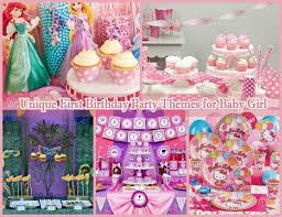 girl birthday 10 unique birthday party themes for baby girl 1st birthday