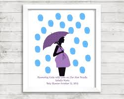 baby shower fingerprint guestbook thumbprint pregnant umbrella