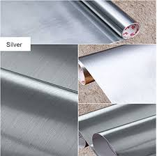 brushed metal look contact paper film vinyl self adhesive backing
