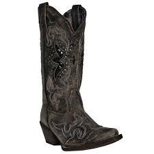 womens black cowboy boots size 9 laredo the company