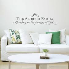standing on the promises of god personalized with family name standing on the promises of god personalized with family name wall decal
