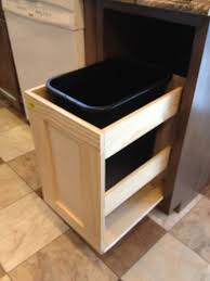 kitchen cabinet trash pull out lovely ana white kitchen trash pull out cabinet diy projects