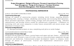 resume construction project manager resume noteworthy free