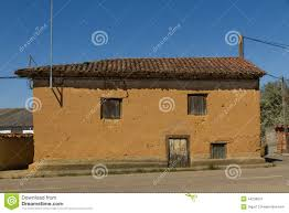 adobe house old adobe house in village stock photo image 44238675