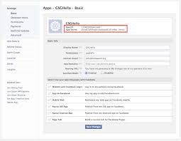 getting started registering an application with facebook