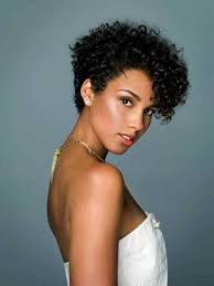 short haircuts for thick curly hair images