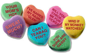 valentines heart candy sayings bad candy heart sayings bad candy really