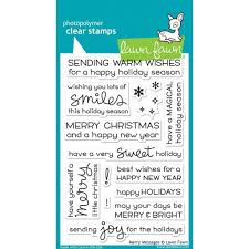 lawn fawn clear sts merry messages hutson llc