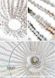 Beaded Chandelier Diy My Simple Obsession Beaded Chandelier Tutorial