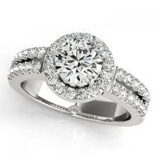amazon com 4 75 carats 4 carat halo split shank prong set adalia style diamond sidestones