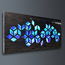 stylish ideas lighted pictures wall decor stunning design cosmic