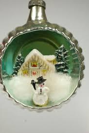 vintage glass tree baubles decorations concave