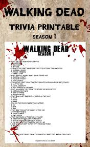 printable halloween trivia quiz memory test walking dead season 4 trivia printable