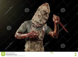 halloween themed background free sack ghost fear and halloween theme creepy killer in a mask on