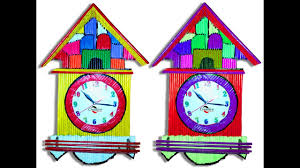 newspaper clock wall hanging art idea diy room decor how to