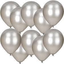 metallic balloons 10 pack of 12 silver metallic balloons co uk toys
