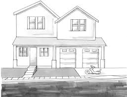 houses drawings easy drawing houses