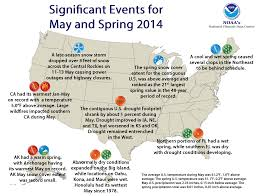 Usa Weather Map by National Climate Report May 2014 State Of The Climate