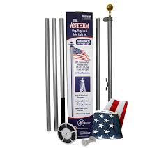 Christmas Tree Shop Flagpole by Annin American Flag U0026 In Ground Flagpole Set With Solar Light