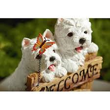 welcome puppies westie outdoor living outdoor decor lawn