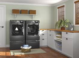 Decorating Ideas For Laundry Rooms Modern Laundry Room Design With Washer And Cabinet