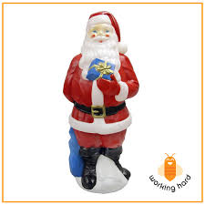 christmas santa reindeer sled sleigh presents blow mold yard