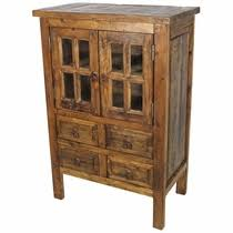 Wood Cabinet Glass Doors Rustic Wood Armoires Cabinets