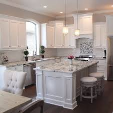 Best White Cabinet With Granite Images On Pinterest Dream - Granite on white kitchen cabinets