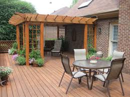 handsome deck landscaping ideas with crushed rock for backyard and