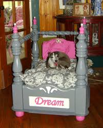 end table dog bed diy i took an end table and turned it into a really cute upscale and