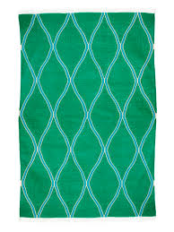 jali soft green and sea blue wool u0026 cotton dhurrie rug mahout