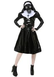 Halloween Costume Ideas 2016 Virgin Mary Nuns Costumes Women Pu Leather Costume