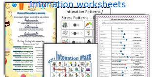 english teaching worksheets intonation