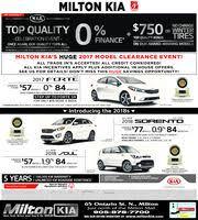 Milton Kia Milton Kia In Milton On 905 878 7700 Auto Auto Dealers