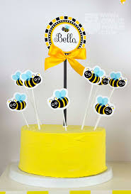 bumble bee cake toppers owlie powlie