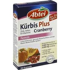 blasenschwäche medikamente abtei kürbis plus cranberry zink b vit kapseln 30 st