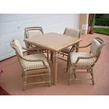 game table and chairs set mcguire game table chairs set of 5 chairish