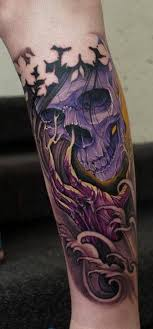 skull colorful tattoos colorful