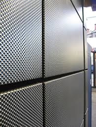Interior Metal Wall Panels Textured Stainless Steel Vecta Panels Give Durable Finish For Rail