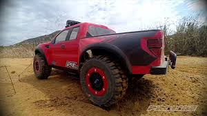 Ford Raptor With Tracks - pro line ford f 150 raptor body with trencher x tires youtube